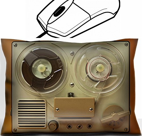 MSD Mouse Wrist Rest Office Decor Wrist Supporter Pillow design 21317358 a small vintage reel to reel tape recorder