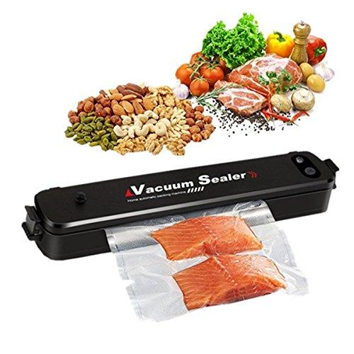 Vacuum Sealer Machine, EIVOTOR Automatic Mini Portable Home Vacuum Air Sealing System for Food Preservation/Starter Kit | Led Indicator Lights | Dual Capacitance Design Including 20pcs Sealing ()