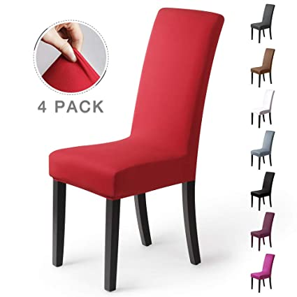 94befc5f175e Fundas para sillas Pack de 4 Fundas sillas Comedor Fundas elásticas,  Cubiertas para sillas,