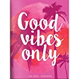 "TF Publishing 19-4216A July 2018 - June 2019 Good Vibes Monthly Planner, 7.5 x 10.25"", Pink & White"