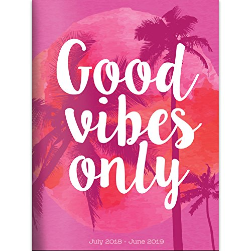 Good Vibes 2019 Monthly Planner: July 2018 - June 2019 (Academic Year)
