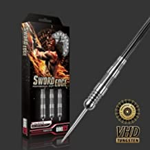 ONE80 Sword Edge Claymore 28g Tungsten Darts Set, Complete with Solibox Case