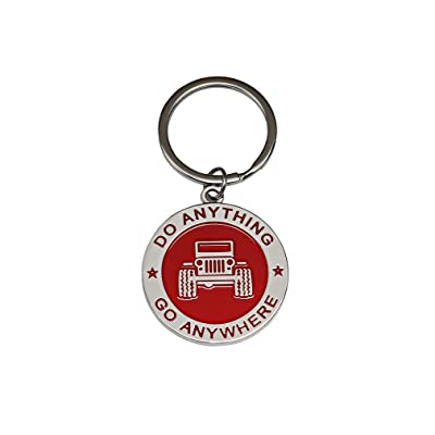 NEW Creative Fashion 3D Styling Keychain Keyring Gift for ANY JEEP Wrangler Fan Enthusiasts & Collector Accessories (Red): Office Products
