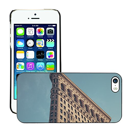 Stampato Modelli Hard plastica Custodie indietro Case Cover pelle protettiva Per // M00421618 Architecture Bâtiment de New York // Apple iPhone 5 5S 5G