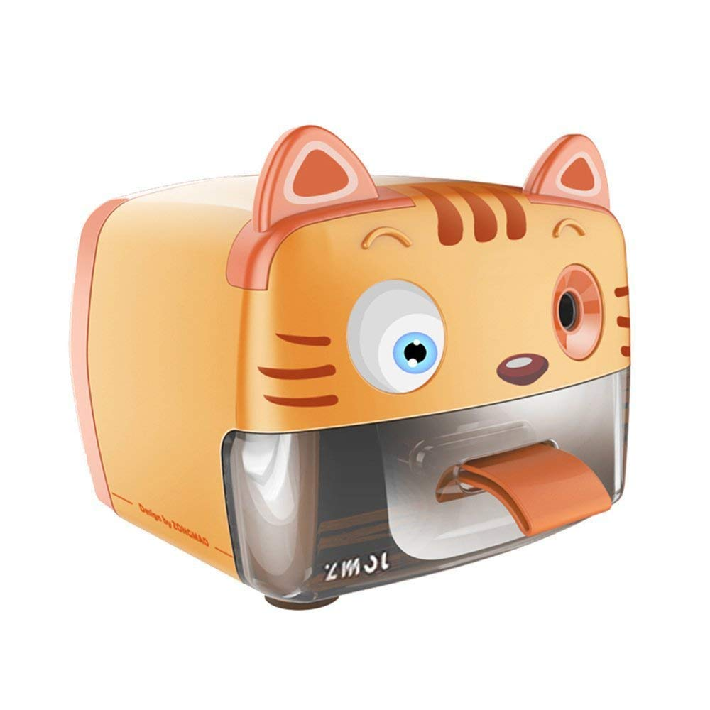 Zmol Electric Pencil Sharpener,Heavy Duty Helical Blade Sharpeners Plug in for Kids Artists Classroom Office School,Auto-Stop Feature for No.2 and Colored Pencils (Tiger) by Zmol
