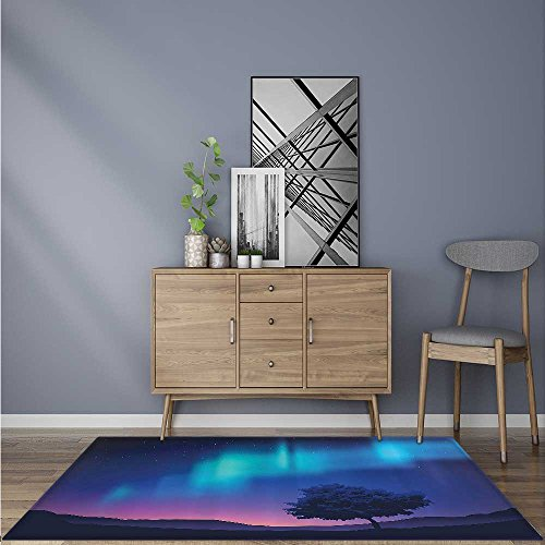 Ideal Anti Slip Rug Pure Angel Saint Raphael with His Flask Wings Prayer Protecti Holy Hope for dining room & bedroom W47 x L59 INCH by SCOCICI1588