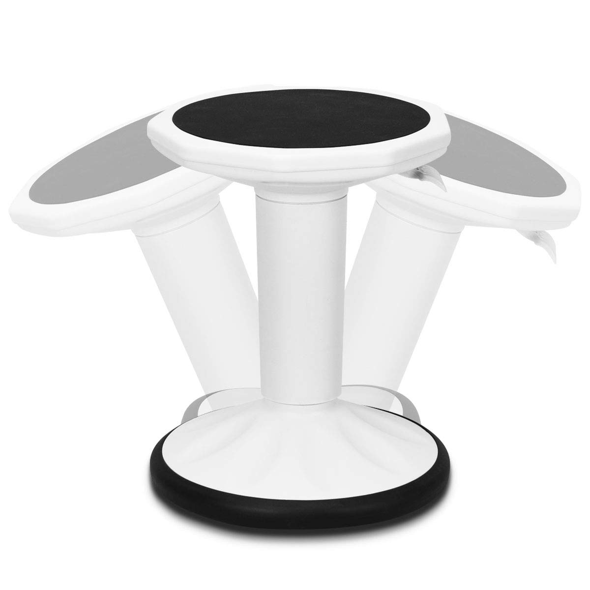 Giantex Wobble Chair Adjustable-Height Active Learning Stool Sitting Balance Chair for Office Stand Up Desk (White) by Giantex