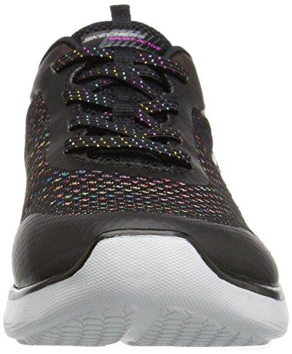 Skechers Womens Orbit Flying Flotta Fashion Sneaker Nero / Multi