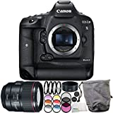Canon EOS-1D X Mark II DSLR Camera with EF 85mm f/1.4L IS USM Lens 6PC Accessory Bundle – Includes 3PC Filter Kit (UV + CPL + FLD) + MORE - International Version (No Warranty)
