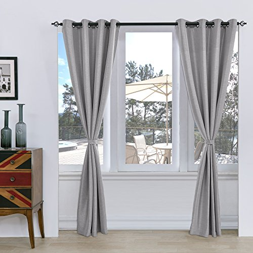 Subrtex Room Thermal Insulated Window Treatment Grommet Blackout Window Curtains/Drapes(52''x95'',2 Panels,Light Gray)
