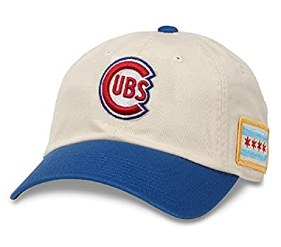 American Needle Chicago Cubs United Slouch Adjustable Hat Ivory/Blue from American Needle