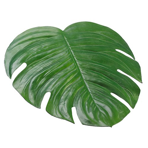 18''x16.5'' Artificial Split Philodendron Monstera Leaf Placemat -Green (pack of 12) by SilksAreForever (Image #1)