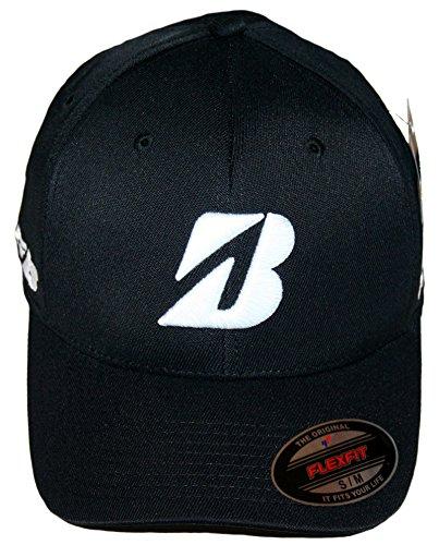 """Bridgestone Golf """"Tour B"""" Tour Fitted FlexFit Cap Hat, Black, Large-XLarge"""