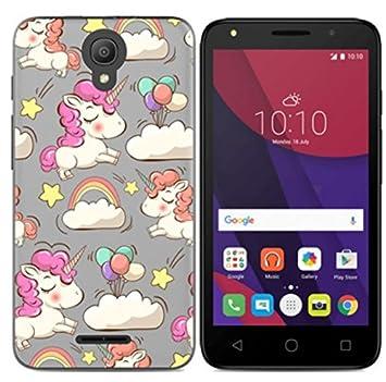 Prevoa Funda para Alcatel Pixi 4 3G - Colorful Silicona TPU Funda Case para Alcatel Pixi 4 3G Version Smartphone 5,0 Pulgadas - 11