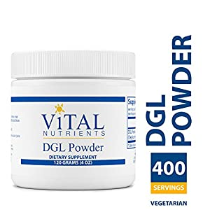 Vital Nutrients - DGL Powder - Nutritional Support for the Stomach and Intestinal Tract Lining - Gluten Free - Vegetarian - 120 grams