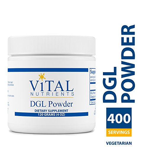 Vital Nutrients - DGL Powder - Licorice Extract to Support Healthy Stomach Lining and Digestive Tract - Gluten Free - Vegetarian - 120 Grams per Bottle