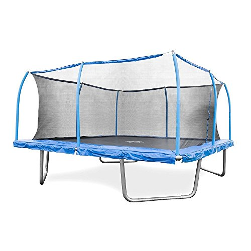 BouncePro 15' Square Trampoline and SteelFlex Safety...