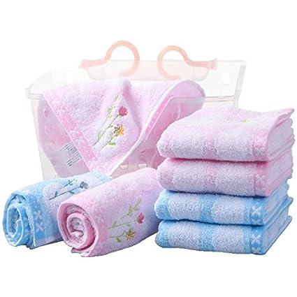 Algodón cara toalla pequeño toque bordado suave toalla de algodón fresca pareja (4 piezas)