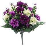 SPIKEY - Fiori artificiali,41cm, crisantemi misti