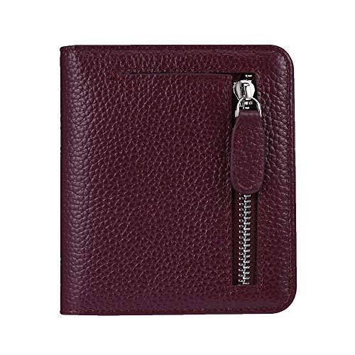 FUNTOR Leather Wallet for women, Ladies Small Compact Bifold Pocket RFID Blocking Wallet for Women, Deep - Fold Bi Wallet Ladies