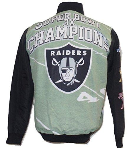 Oakland Raiders Championships - G-III Sports Oakland Raiders Super Bowl Championship Commemorative Sublimated Jacket
