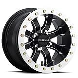 used 14 inch atv rims - Raceline A71 Mama Beadlock ATV/UTV 14x7 4x137 6+1 Black/Machined Wheel Rim