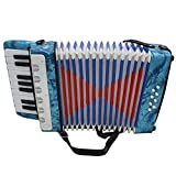 ammoon Starter Mini Small 17 Key 8 Bass Accordion Amateur Educational Musical Instrument Toy For Children Christmas Gift