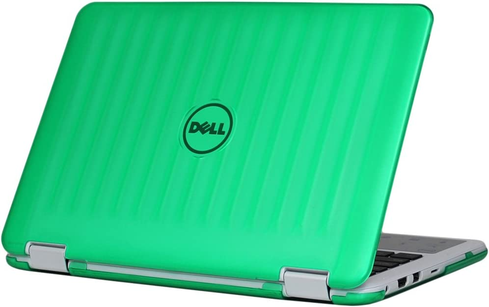 "mCover Hard Shell Case for New 2018 11.6"" Dell Inspiron 11 3185 Series 2-in-1 Laptop (NOT Compatible with Older 11.6"" Inspiron 3000 Series Released Before 2018) (Green)"