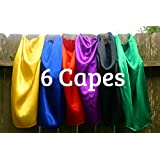 Super Hero Capes Children Set of 6