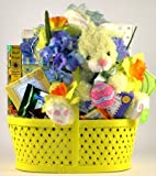 Easter Bunny Treats | Easter Basket of Easter Candy and Plush Bunny