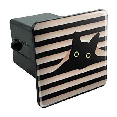 "Graphics and More Black Cat in Window Tow Trailer Hitch Cover Plug Insert 2"": Automotive"