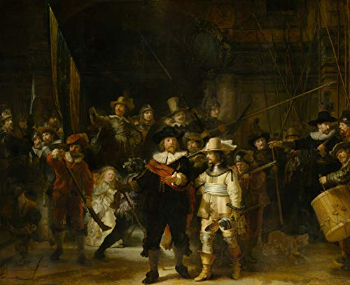 "Rembrandt Van Rijn The Night Watch Rijksmuseum 30"" x 24"" Fine Art Giclee Reproduction Canvas Print (Unframed)"