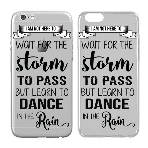 (Iphone Case Dance - Dancing In The Rain Quote - Dance Gifts Soft Flexible Transparent Skin, Scratch Proof Protective Slim Case for iPhone 6)
