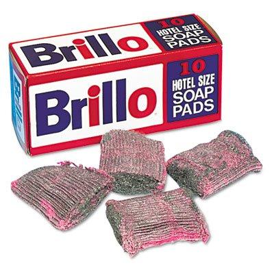 Brillo - Steel Wool Soap Pad, 10/Box W240000 (DMi BX by Brillo by Brillo