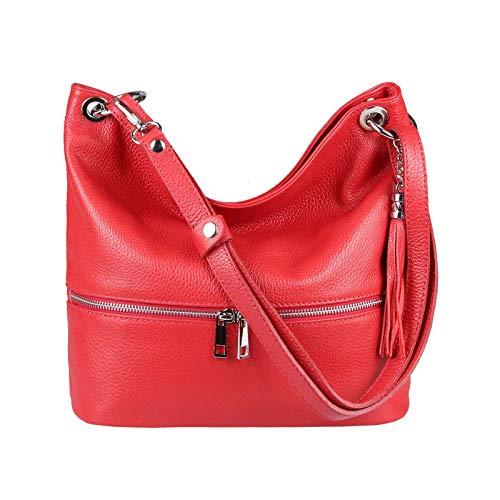 OBC Only-Beautiful-Couture, Sac pour Femme à Porter à l'épaule Gris Grau 34x27x13 Cm ca.: 34x27x13 cm (BxHxT) Rot 34x27x13 Cm
