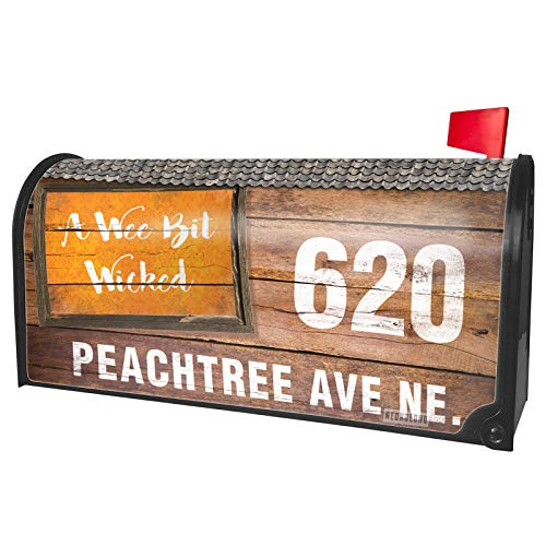 NEONBLOND Custom Mailbox Cover A Wee Bit Wicked Halloween Orange Wallpaper