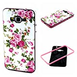 Grand Prime Case,G530 Case,XYX [Colorful flowers] 2 in 1 Hybrid Bumper TPU Soft Silicone Case Cover for Samsung Galaxy Grand Prime G530H
