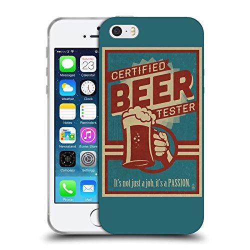 Officiel Lantern Press Testeur De Bière Caverne D'homme Étui Coque en Gel molle pour Apple iPhone 5 / 5s / SE