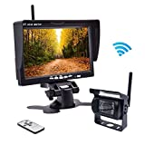 "Accfly Wireless Backup Camera RC 12V-24V Rear View and Monitor Kit Waterproof Parking Assistance System For Car/Truck/Mini Van/Caravan/Trailers/Camper with 7"" HD LCD Night Vision"