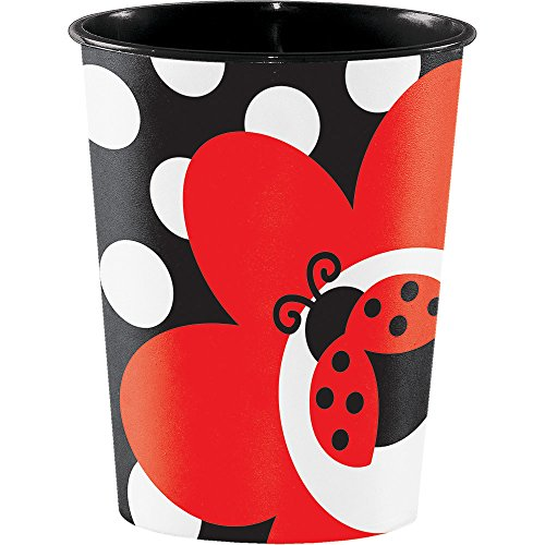 Creative Converting Plastic Keepsake Cups, Ladybug Fancy (12-Count)