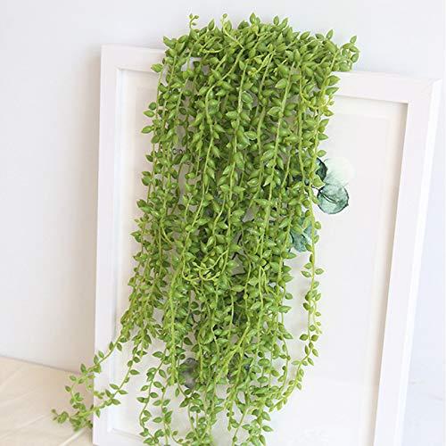 Piante in Vaso Ufficio Decor Regalo Vasca da Bagno Succulente finte Set di 2 MAyouth Artificiale succulente Piante in Vaso Home Faux String Wall Hanging Decor