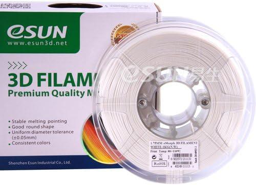 Esun EMoRpH 1,75 mm blanco filamento baja temperatura 80 ~ 110 C ...