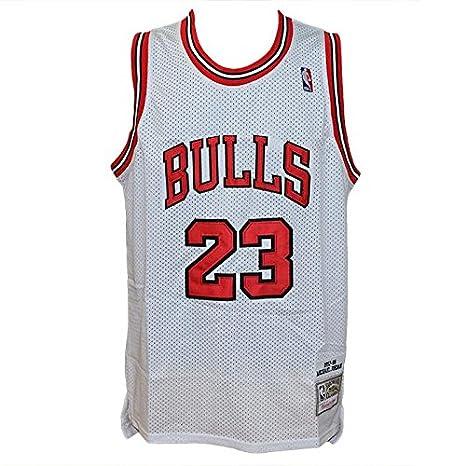 Hardwood Classics - Camiseta blanca de la NBA, diseño retro vintage, de Michael Jordan en los Chicago Bulls, talla M: Amazon.es: Deportes y aire libre
