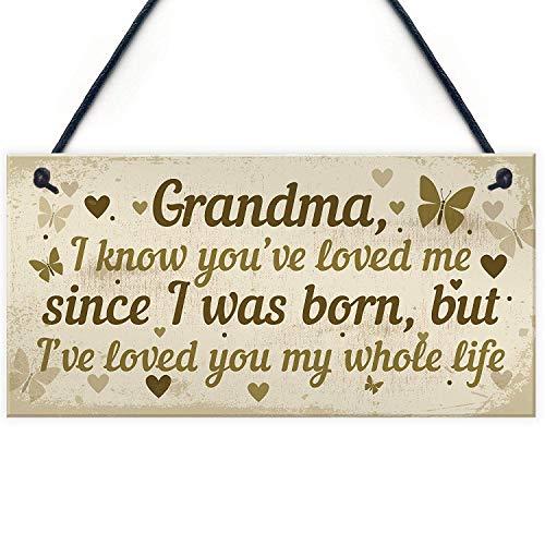 Meijiafei Hanging Plaque Birthday for Grandma Loving Thoughtful Present 10