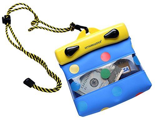 "EXTREMEWORLD Dry Bag TPU Waterproof Case Bag Multi Purpose Polka Dot Wallet (4.7"" x 3.9"", Y1210)"