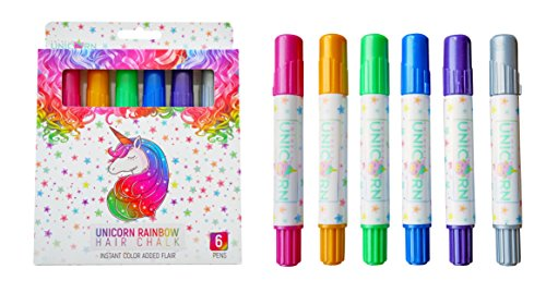 Girls Hair Chalk, Rainbow Hair Chalk, Unicorn Hair Chalk Pens by Twinkle Unicorn (Image #5)
