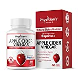 Organic Apple Cider Vinegar Capsules: Award Winning Capsimax Cayenne Pepper Extract & Ginger -Digestion, Detox & Cleanse Pills for Women and Men, Extra Strength 1000 MG, Non-GMO ACV Capsules