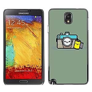 X-ray Impreso colorido protector duro espalda Funda piel de Shell para SAMSUNG Galaxy Note 3 III / N9000 / N9005 - Photographer Film Smile