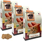 Wet Noses Organic Usa Made All Natural Dog Treats, Sweet Potato, 3 Pack For Sale