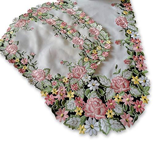 Galleria di Giovanni Embroidered Pink Rose 34